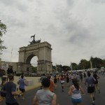 A recognizable landmark on the course is the Soldiers' and Sailors' Memorial Arch at the edge of Prospect Park