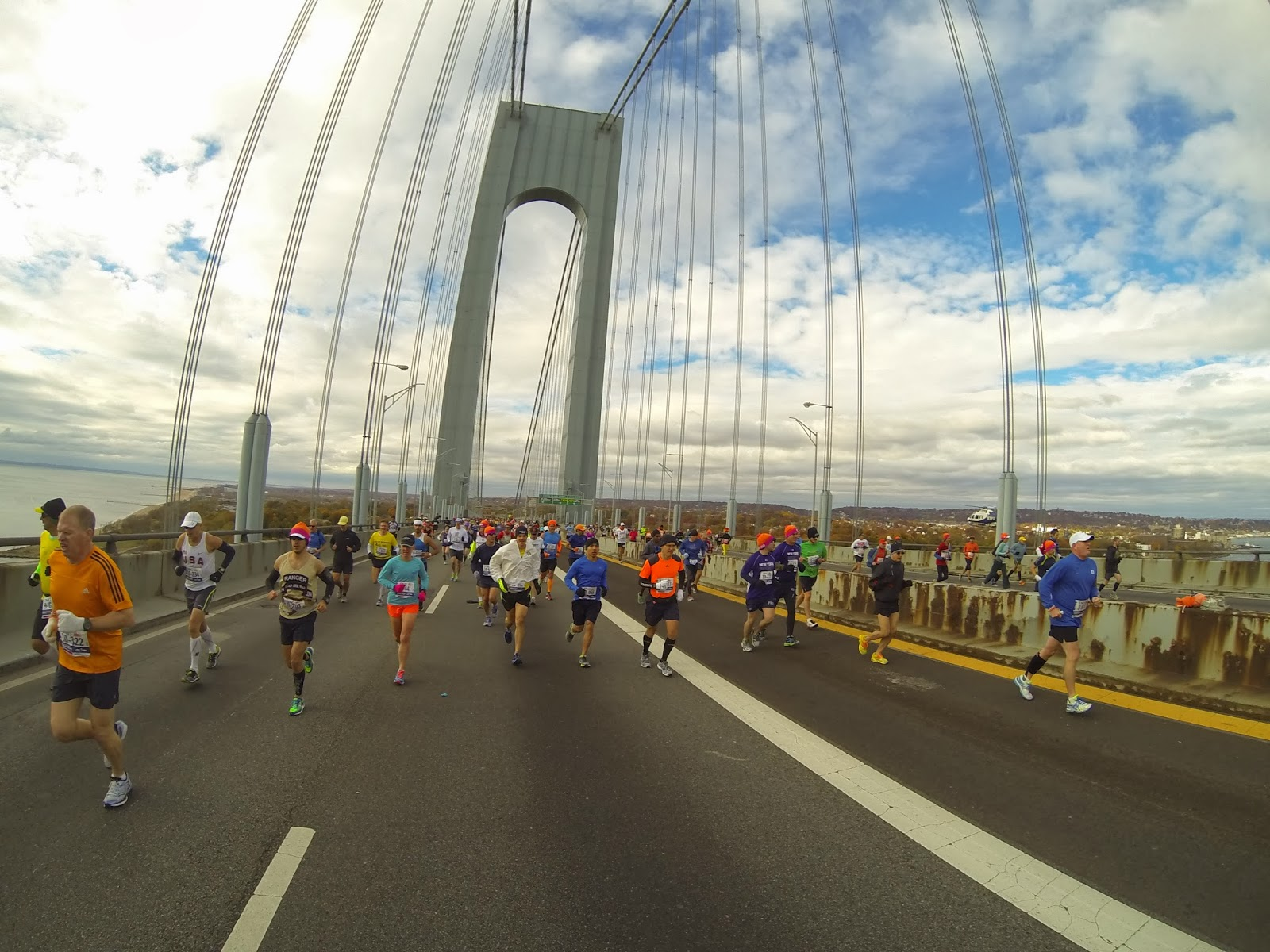 Running on the Verrazano Bridge
