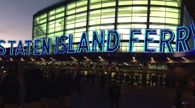 Staten Island Ferry Terminal at Whitehall Street in Manhattan